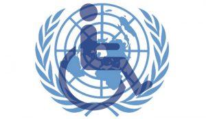 Juntiniu Tautų ir negalios ženklas