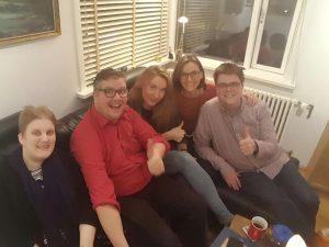 Nuotraukoje matomi Lietuvos neįgaliųjų ir Islandijos organizacijos ATAK nariai. Aki sėdi pirmas iš dešinės.